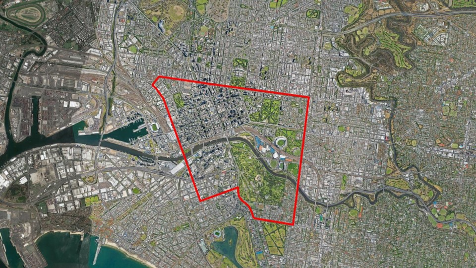 Documentation of the city's street façades in elevation at night began on Victoria Parade, then to Spencer Street, Clarendon Street, turning onto Park Street, snaking up Toorak Road to Punt Road and back to the beginning forming a loop.