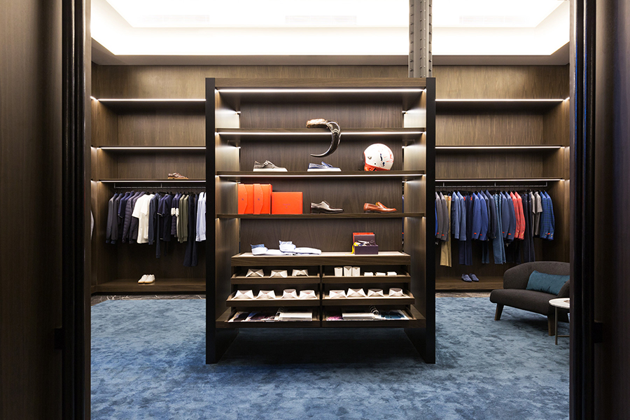 Masons: Luxury Menswear, VIC | Lighting supplied by Lights & Tracks